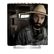 Farm Worker Shower Curtain