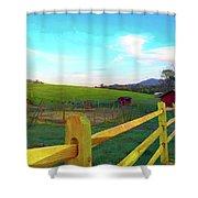 Farm Yard Fence Shower Curtain