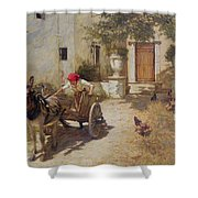 Farm Yard Scene Shower Curtain