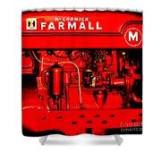 Farmall Engine Detail Shower Curtain