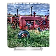 Farmall Graveyard Shower Curtain