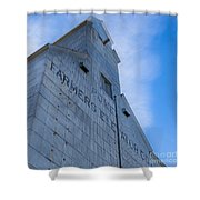 Farmers Grain Elevator, Power, Montana Shower Curtain