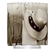 Farmers Hat Shower Curtain