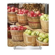 Farmer's Market Apples Shower Curtain