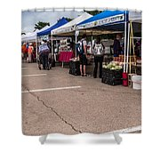 Farmers Market Before The Crowd Shower Curtain