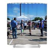 Farmers Market Meetings Shower Curtain