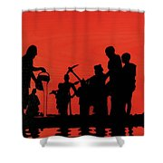 Farmers Night Out Shower Curtain