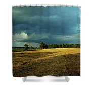 Farmers Race Against The Weather Frankenmuth Michigan Shower Curtain