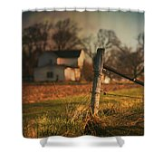 Farmhouse And Fence Post Shower Curtain