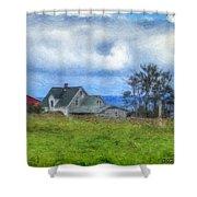 Farmhouse By The Sea Shower Curtain