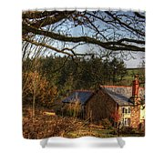 Farmhouse In The Valley Shower Curtain