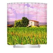 Farmhouse In Tuscany Shower Curtain