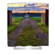 Farmhouse Sunrise - Arkansas - Landscape Shower Curtain