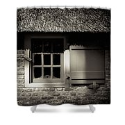 Farmhouse Window Shower Curtain