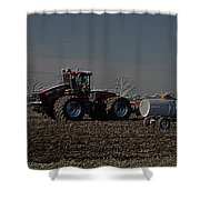 Farming April In The Field On The Case 500 Pa Shower Curtain