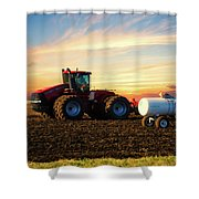 Farming April In The Field On The Case 500 Shower Curtain