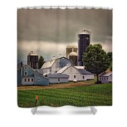 Farming Before The Storm Finger Lakes New York 04 Shower Curtain