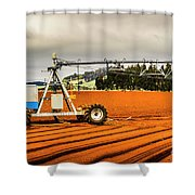 Farming Field Equipment Shower Curtain