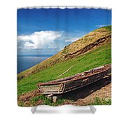 Farming In Azores Islands Shower Curtain
