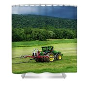 Farming New York State Before The July Storm 02 Shower Curtain