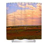 Farmland In Gettysburg Shower Curtain
