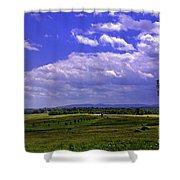 Farmland In Gettysburg Version II Shower Curtain