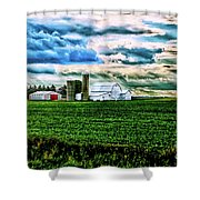Farmland In  Hdr Shower Curtain