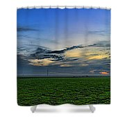 Farmland Panorama Shower Curtain