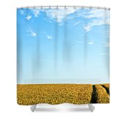 Farmland To The Horizon 1 Shower Curtain