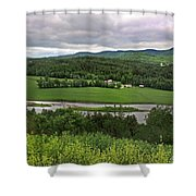 Farmland View Over The Connecticut River  Shower Curtain
