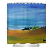 Farms And Rolling Hills  Shower Curtain