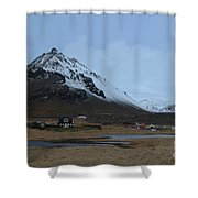 Farms At The Base Of Mt Stapafell In Iceland Shower Curtain