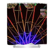 Farris Wheel Close-up Shower Curtain