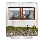Facade - A Window With A Trophy To Show Shower Curtain