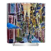 Fascinating Palermo Sicily Italy Street Scene Shower Curtain