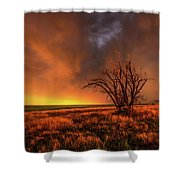 Fascinations - Warm Light And Rumbles Of Thunder In The Oklahoma Panhandle Shower Curtain