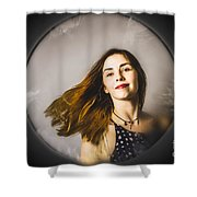 Fashion And Makeup Woman At Beauty Salon Store Shower Curtain