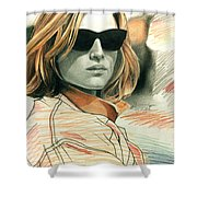 Fashion Illustration Shower Curtain