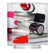 Fashion Model Lipstick Shower Curtain