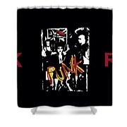 Punk Rock Alternative Style Design Shower Curtain