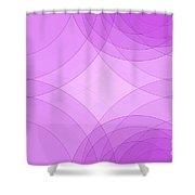 Fashion Semi Circle Background Horizontal Shower Curtain