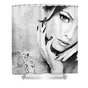 Fashion Woman Shower Curtain