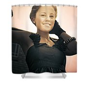 Fashionable Wealthy Woman Shower Curtain