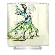 Fashionista 3 Shower Curtain