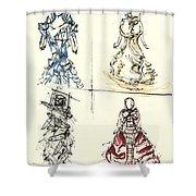 Fashionista 4 Shower Curtain