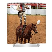 Fast Draw Cowboy Shower Curtain