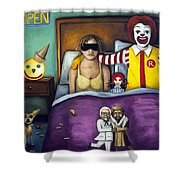 Fast Food Nightmare Shower Curtain by Leah Saulnier The Painting Maniac