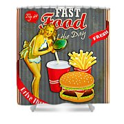 Fast Food Of The Day Shower Curtain