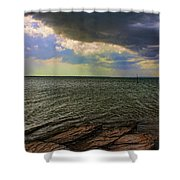 Fast Moving Storm Shower Curtain