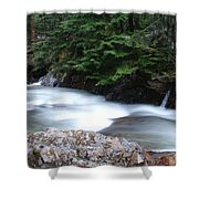 Fast Water Tumbling Fast  Shower Curtain